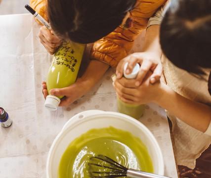 2016年8月20日(土)お茶で作る石けんワークショップ