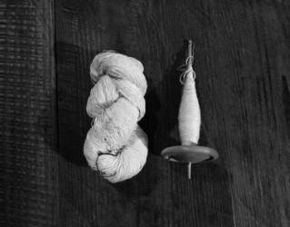 2016年10月22日(土)スピンドルで絹の糸紡ぎ